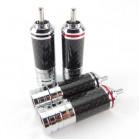 SonarQuest SQ-RCA011 Carbon Fiber Series Hi-Fi RCA Audio Connector Plug